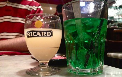 Ricard and a Diabolo Menthe. One tasty apperatif, and one refreshing mint soda! Two of my favorite French summer drinks.