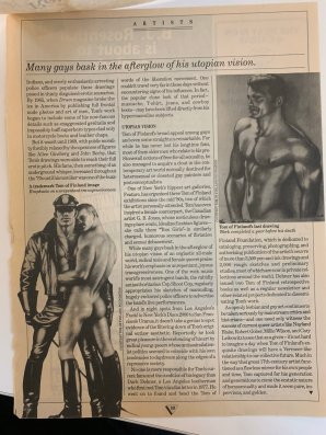 Dennis Cooper on Tom of Finland 2