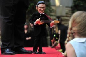 Johnny Cash puppet. Library is among the best perks of living in Nashville
