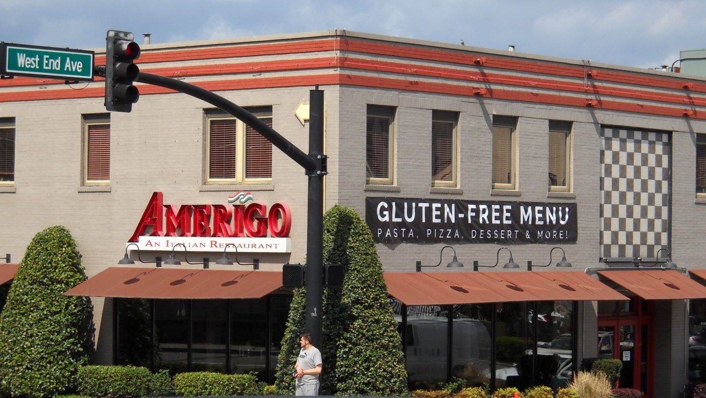Amerigo advertises its gluten-free menu