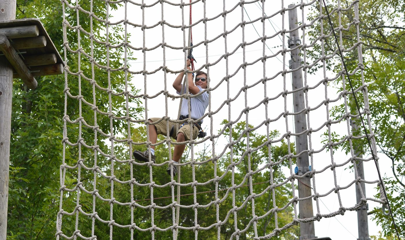 outdoors: Treetop Adventure Park cargo net