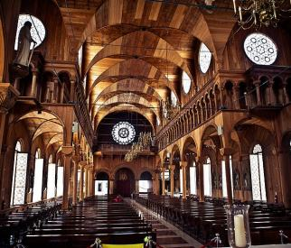 The Wooden St Peter and Paul Cathedral in Paramaribo (Suriname)
