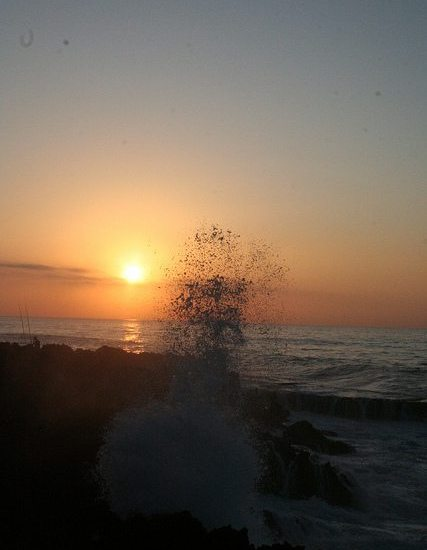 Sunset at Temara Beach near Casablanca, Morocco (2011-10)