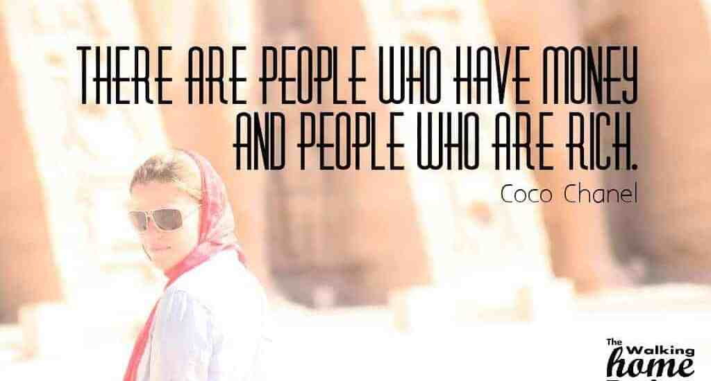 Quotes: Coco Chanel - There are people who have money and people who are rich