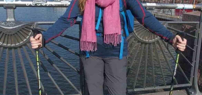 Carola in Berlin at the beginning of Walking Home, Germany (2014-03-30)