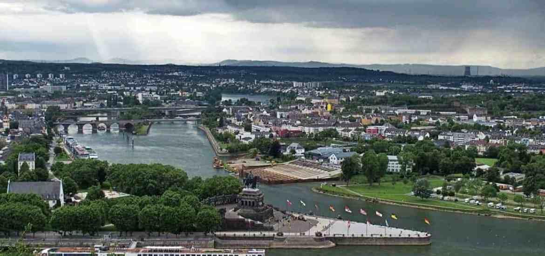 Dreiländereck in Koblenz, Germany (2014-05)