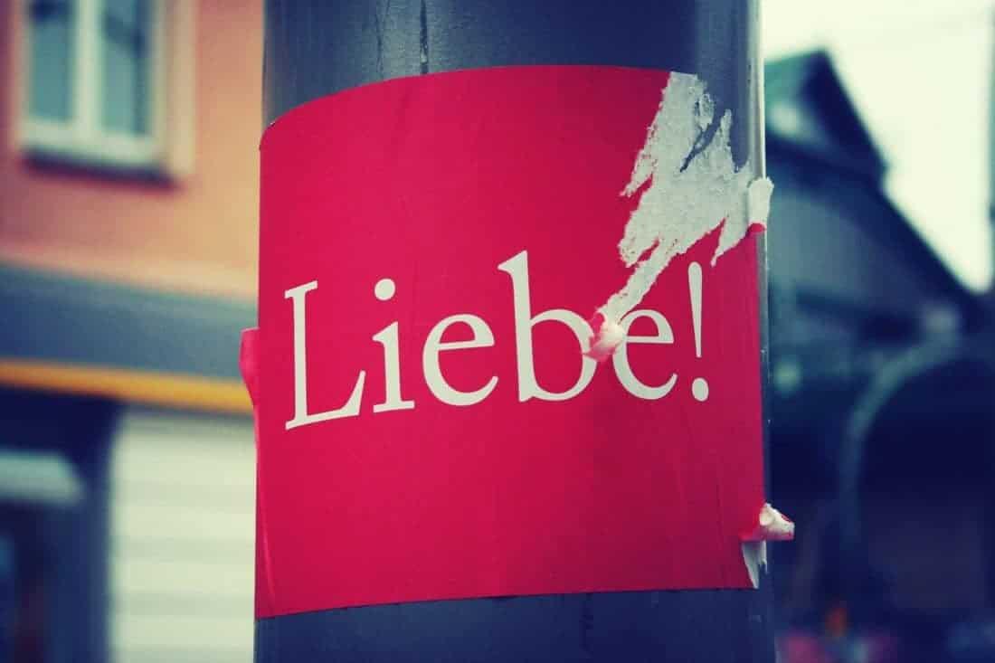 Sticker Liebe - Love in Berlin, Germany (2013-11-17)