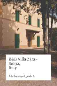 Here's my full review of the B&B Villa Zara in Siena, Italy, incl. how to get there, facilities and dining options.