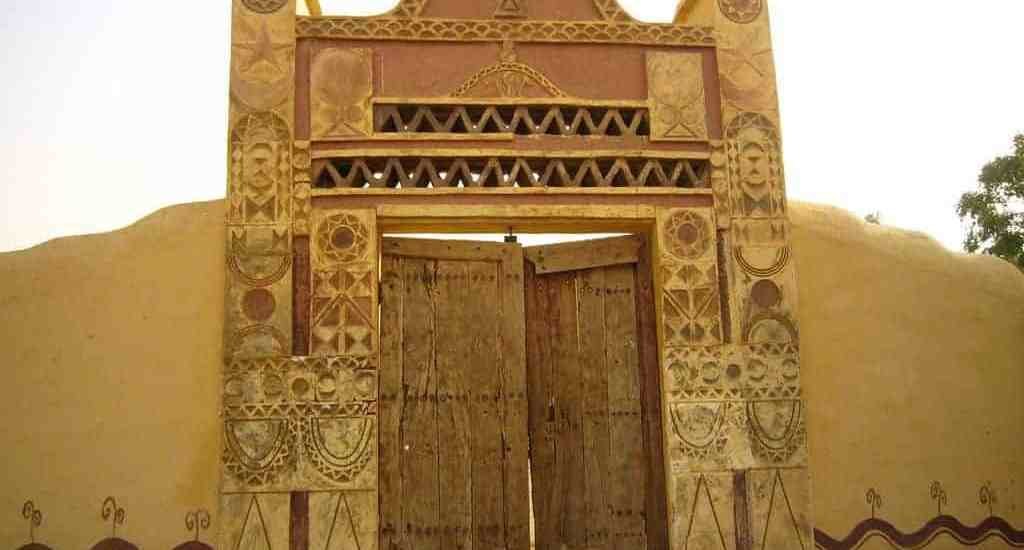 Gate of the Nubia Guesthouse, Karima, Sudan (2012-07)