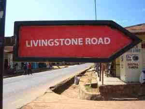Sign Livingstone Road, Kigoma, Tanzania (2012-04)