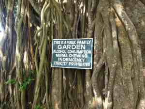 This is a public family garden sign, Mombasa, Kenya (2012-05)