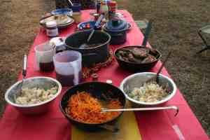 African Trails Christmas dinner, Brenu Beach, Ghana (2011-12-25)