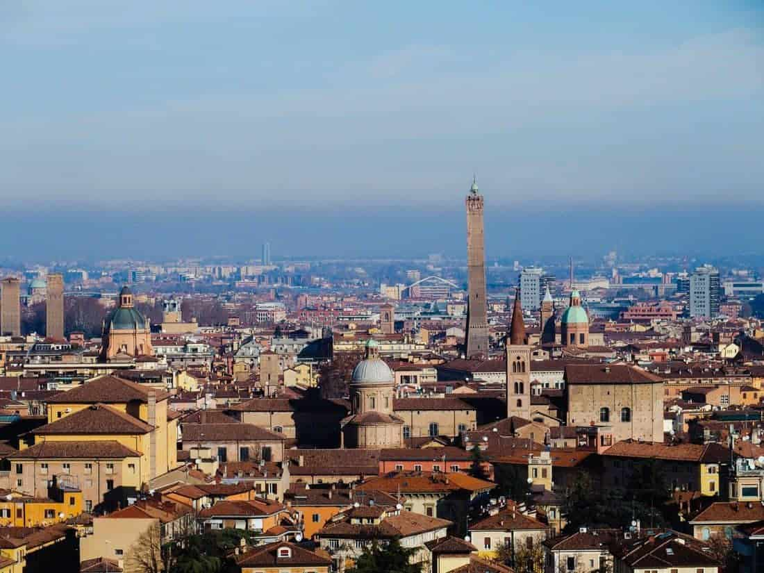Bologna view from San Michele in Bosco, Emilia-Romagna, Italy (2016-01-10)