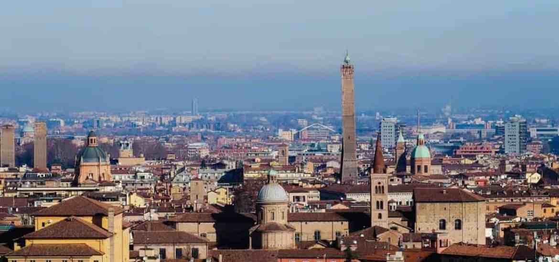 Bologna view from San Michele in Bosco, Emilia-Romagna, Italy (2016-01-10)