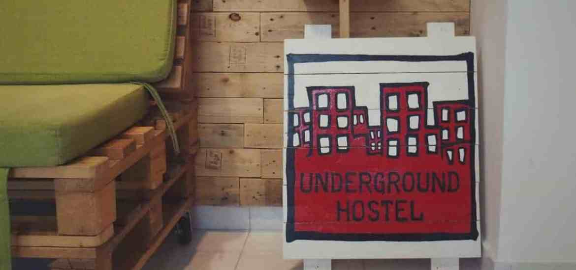Hostel Underground Rooms sign, Pula, Croatia (2016-08-29)