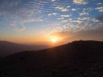 Sunset watch from Mount Nebo, Jordan (2016-12-21)