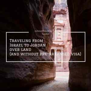 Traveling from Israel to Jordan over land (and without pre-arranged visa)