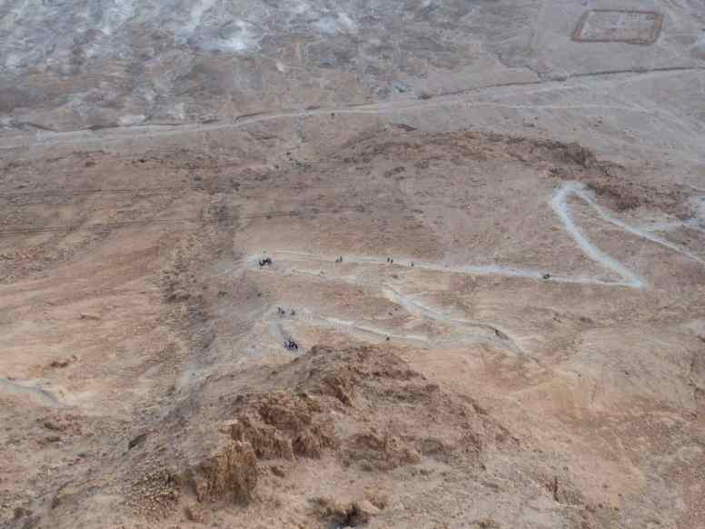 The dreaded Snake path at Masada National Park, Israel (2017-01-03)