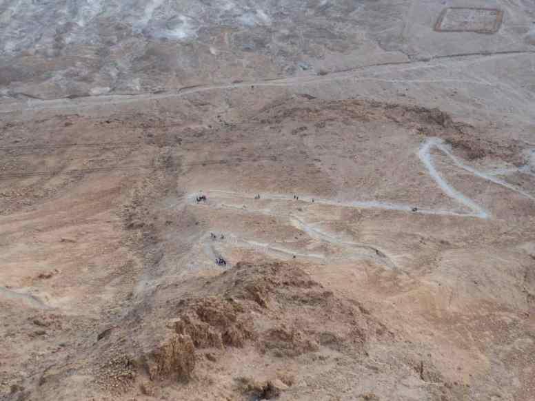 The dreaded Snake path at Masada National Park, Israel (2017-01-03)