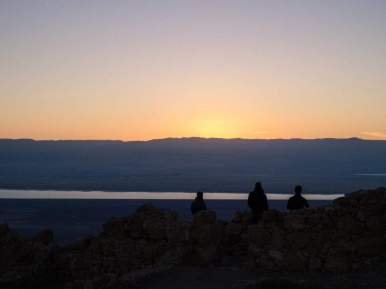 Sunrise gazing at Masada National Park, Israel (2017-01-03)
