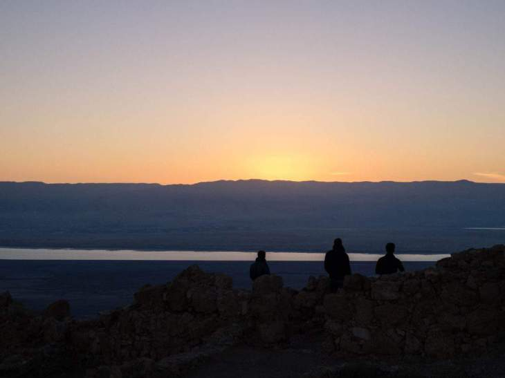 Sunrise gazing at Masada National Park, Israel (2017-01-03)
