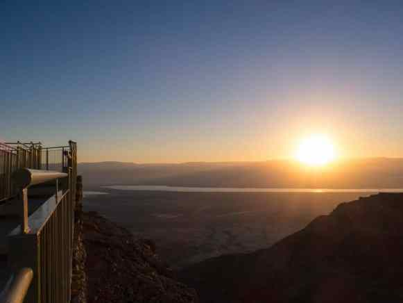 Sunrise view from Masada National Park, Israel (2017-01-03)