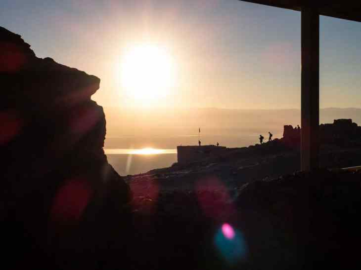 Sunrise over Masada National Park, Israel (2017-01-03)