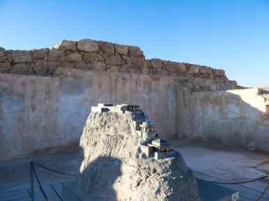 Model of the North Palace at Masada National Park, Israel (2017-01-03)