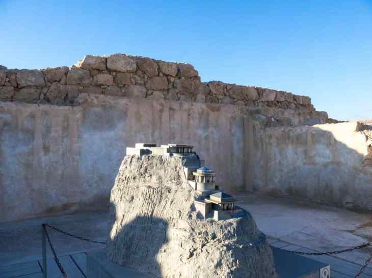 Model of the North Palace at Masada National Park, Israel (2017-01-03)