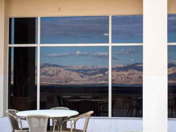 Terrace at HI Hostel Masada National Park, Israel (2017-01-03)