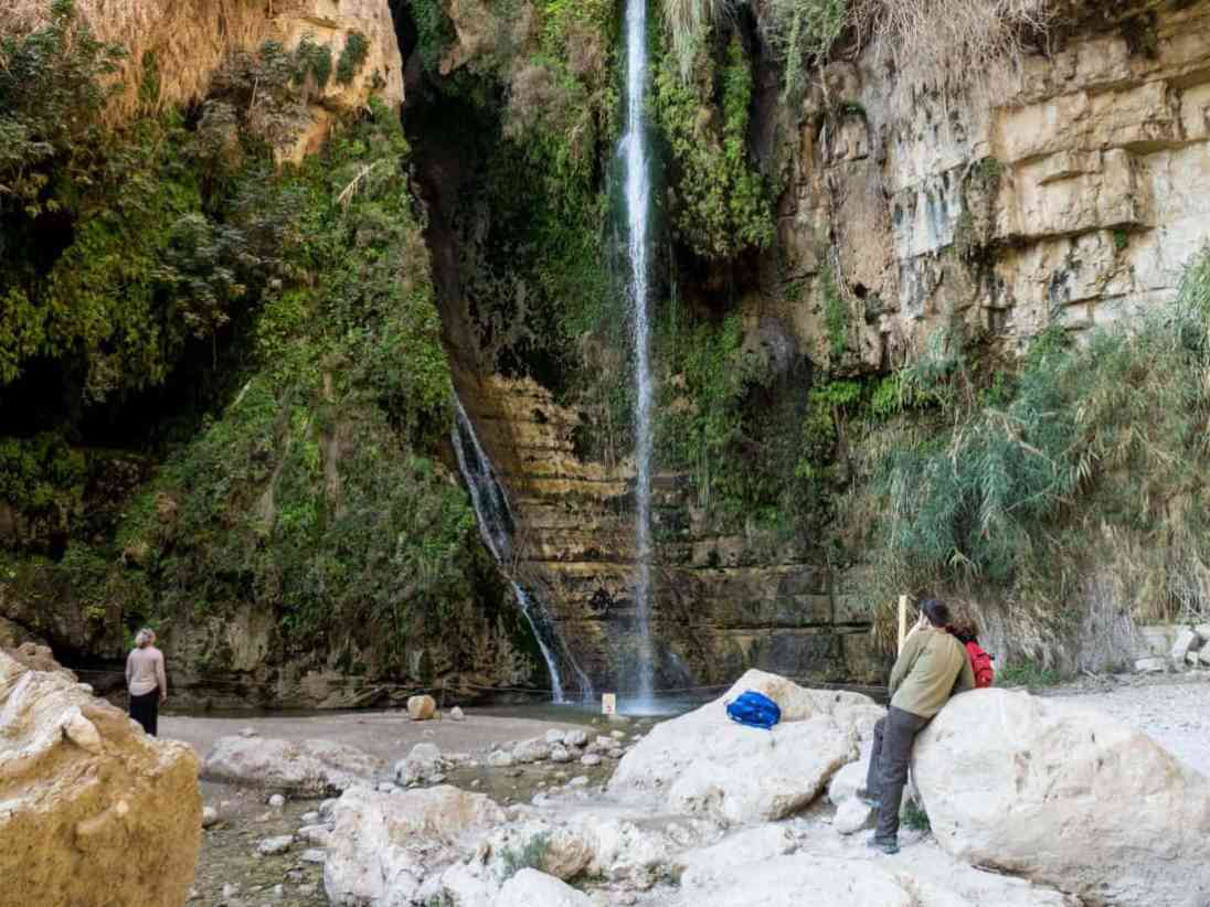 David's Waterfall in Ein Gedi Nature Reserve, Israel (2017-01-04)