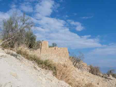 Ruins at Ein Gedi spring, Ein Gedi Nature Reserve, Israel (2017-01-04)