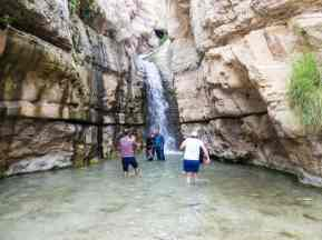 The Hidden Fall in Arugot Valley Ein Gedi Nature Reserve, Israel (2017-01-04)