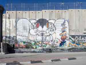 Abstract street art on the separation wall, Bethlehem, Palestine (2017-01-11)