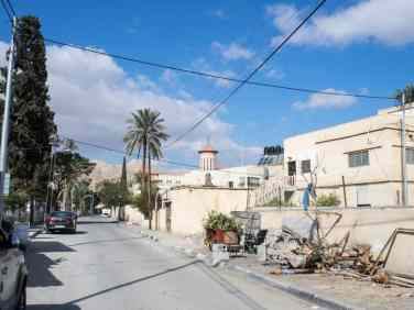 Residential Jericho with Romanian church, Palestine (2017-01-15)