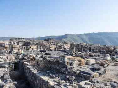 Roman ruins of Sussita Hippos, Sea of Galilee, Israel (2017-01-18)