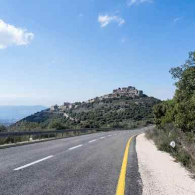 On the road to Nimrod Fortress, Golan Heights, Israel (2017-01-30)