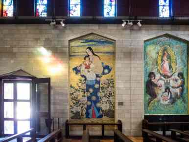 Art inside the Basilica of the Annunciaton, Nazareth, Israel (2017-02-03)