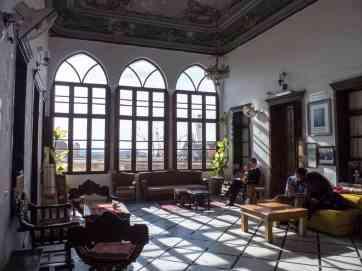 Salon of the Fauzi Azar Inn, Nazareth, Israel (2017-02-03)
