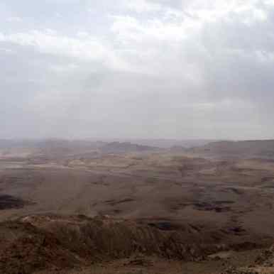Rainy morning, Ramon Crater, Mitspe Ramon, Israel (2017-02-08)