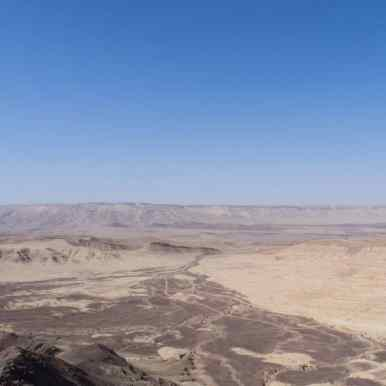 Panorama of Ramon Crater, Mitspe Ramon, Israel (2017-02-08)