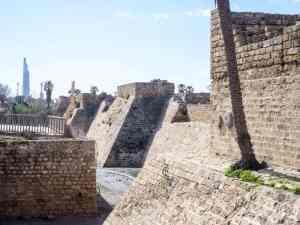 Crusader fort walls, Caesarea, Israel (2017-02-17)