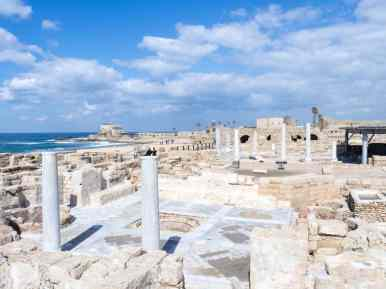 Byzantine ruins, Caesarea, Israel (2017-02-17)