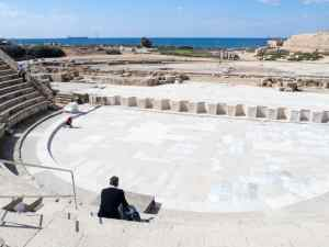 View from the amphitheater, Caesarea, Israel (2017-02-17)