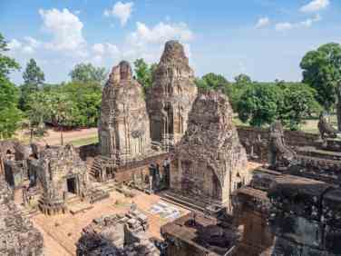Pre Rup temple from the top, Angkor Big Circuit, Siem Reap, Cambodia (2017-04-10)