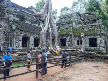 Ta Prohm tourist photo ops, Angkor Small Circuit, Siem Reap, Cambodia (2017-04-13)