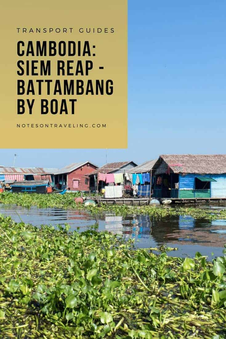 Taking the boat from Siem Reap to Battambang (or vice versa) is a strenuous way to travel between those two Cambodian cities. But you will be rewarded with great views and a unique look into life on the water. #cambodiaitinerary #blackpacking #publictransport