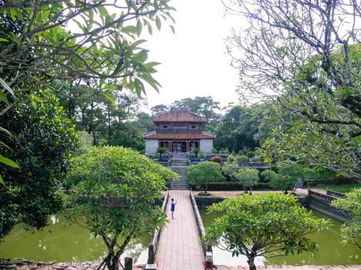 Garden at Minh Mang Tomb, Hue, Vietnam (2017-06)