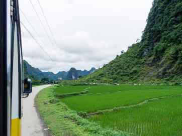 On the bus to Ban Gioc waterfall, Northern Vietnam (2017-07)