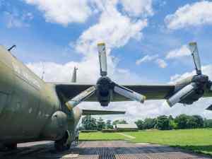 DMZ Tour: Left behind US airforce plane at Khe San base, Vietnam (2017-06-26)